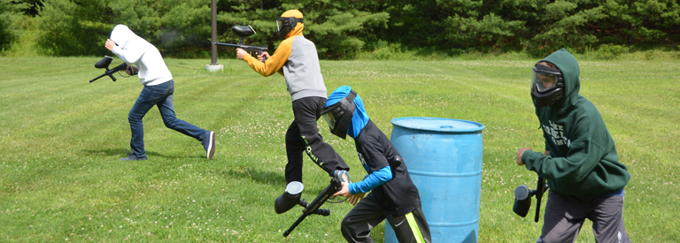 Lake Greeley Camp paintball activity