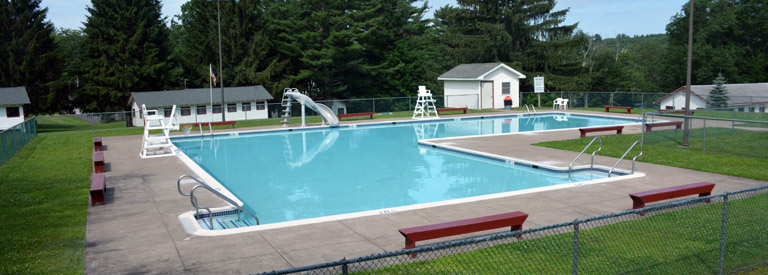 summer camp pool activity